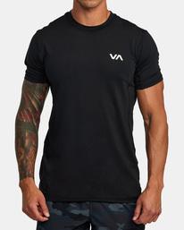 1 SPORT VENT SHORT SLEEVE TEE Black V9021RSV RVCA