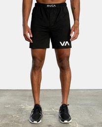 0 VA Sport Grappler Short Black VG208GRP RVCA