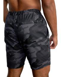 "9 VA Sport   Spectrum Workout Shorts 18"" Brown VL202SPE RVCA"