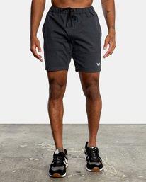 """0 Spectrum Workout Shorts 18"""" Black VL202SPE RVCA"""