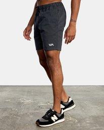 """3 Spectrum Workout Shorts 18"""" Black VL202SPE RVCA"""