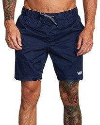 "1 VA Sport | Spectrum Workout Shorts 18"" Blue VL202SPE RVCA"