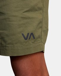 "2 VA Sport | Spectrum Workout Shorts 18"" Green VL202SPE RVCA"