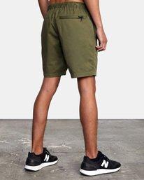 "4 VA Sport | Spectrum Workout Shorts 18"" Green VL202SPE RVCA"