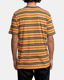 2 Capistrano Stripe - T-shirt pour Homme Gris W1KTRARVP1 RVCA