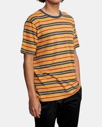 5 Capistrano Stripe - T-shirt pour Homme Gris W1KTRARVP1 RVCA