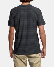 2 Texture Stripe - T-shirt pour Homme Noir W1KTRDRVP1 RVCA