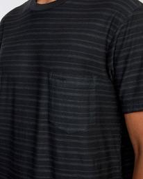 3 Texture Stripe - T-shirt pour Homme Noir W1KTRDRVP1 RVCA
