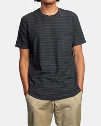 1 Texture Stripe - T-shirt pour Homme Noir W1KTRDRVP1 RVCA