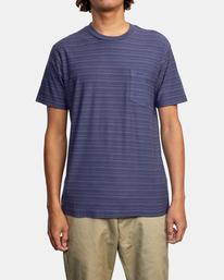 1 Texture Stripe - T-shirt pour Homme Bleu W1KTRDRVP1 RVCA