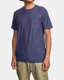 4 Texture Stripe - T-shirt pour Homme Bleu W1KTRDRVP1 RVCA