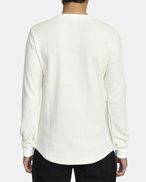 2 Recession Collection Day Shift - Haut thermique manches longues pour Homme Blanc W1KTRKRVP1 RVCA