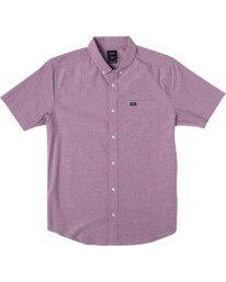 0 That'll Do - Short Sleeve Shirt for Men Red W1SHRHRVP1 RVCA