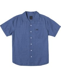 0 Neutral Hemp Beat - Short Sleeve Shirt for Men Purple W1SHRVRVP1 RVCA