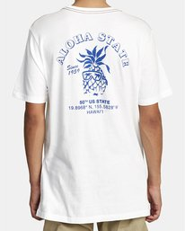 1 Aloha Shop - T-shirt pour Homme Blanc W1SSICRVP1 RVCA
