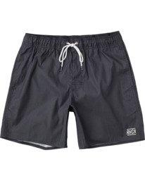"""0 Opposites 17"""" - Elasticated Shorts for Men Black W1VORBRVP1 RVCA"""