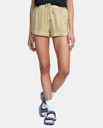 0 NEW YUME ELASTIC SHORT Grey W202PRNY RVCA
