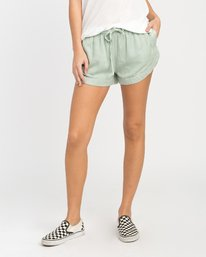 0 NEW YUME ELASTIC SHORT Green W202PRNY RVCA