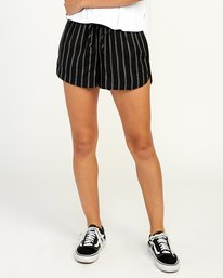 0 New Yume Elastic Short Black W202PRNY RVCA