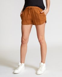 0 New Yume Elastic Short Brown W202PRNY RVCA