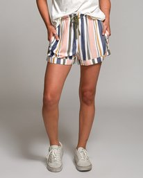 0 Jaywalk Striped Elastic Short Multicolor W204URJA RVCA