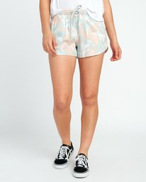 0 Hawaii Yume Printed Elastic Short Grey W277SRHY RVCA