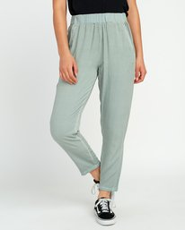 0 Chill Vibes Elastic Pant Green W301PRCV RVCA