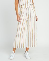 0 Fully Noted Striped Pants White W301URFU RVCA