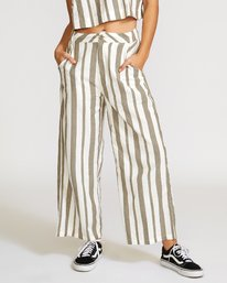 0 Nixes Striped Pant Green W301VRNS RVCA