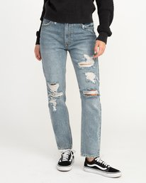 0 Piper High Rise Tapered Denim Jean Blue W302QRPI RVCA