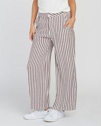 0 Manna Striped High Rise Pants Pink W302SRMA RVCA