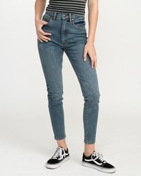 0 Solar Ultra High Rise Denim Jean Blue W303QRSO RVCA