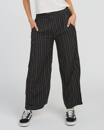 0 Power High Rise Twill Pants Black W303SRPO RVCA