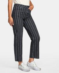 3 Holli High Rise Straight Jeans Black W303VRHO RVCA