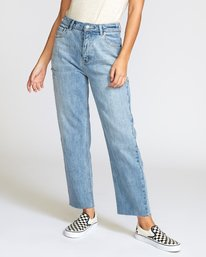 0 Holli High Rise Straight Jeans Grey W303VRHO RVCA
