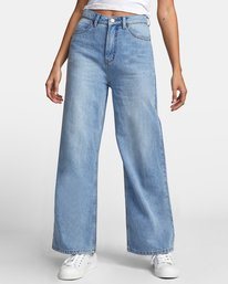 0 COCO HIGH RISE RELAXED DENIM Blue W3063RCO RVCA