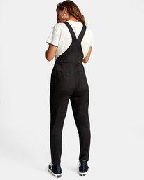 1 Recession Collection Moonshine - Salopette zippée pour Femme Noir W3ONRJRVP1 RVCA