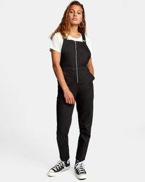 0 Recession Collection Moonshine - Salopette zippée pour Femme Noir W3ONRJRVP1 RVCA