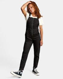 3 Recession Collection Moonshine - Salopette zippée pour Femme Noir W3ONRJRVP1 RVCA