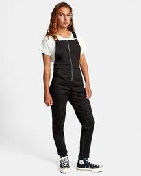 4 Recession Collection Moonshine - Salopette zippée pour Femme Noir W3ONRJRVP1 RVCA