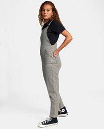 2 Recession Collection Moonshine - Salopette zippée pour Femme Gris W3ONRJRVP1 RVCA