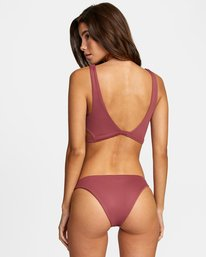 0 Solid Medium - Medium Bikini Bottoms for Women Purple W3SBRORVP1 RVCA