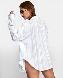 1 Habit - Chemise manches longues oversize pour Femme Blanc W3SHIARVP1 RVCA