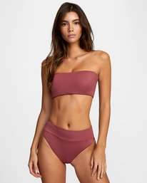 0 Solid Bandeau - Bikini Top for Women Purple W3STRMRVP1 RVCA