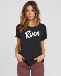 0 Marina Pocket T-Shirt Black W404SRMA RVCA