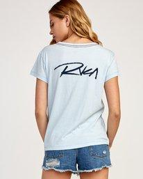 0 Fast Script T-Shirt Blue W404TRFA RVCA