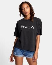 0 BIG RVCA BOYFRIEND T-SHIRT Black W4071RBR RVCA