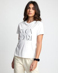 0 UNDER OVER TEE White W4103RUO RVCA