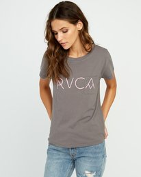 0 Angler Relaxed Pocket T-Shirt Grey W412URAN RVCA