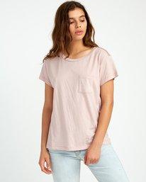 0 Flora Seal Relaxed Pocket T-Shirt Pink W412URFL RVCA